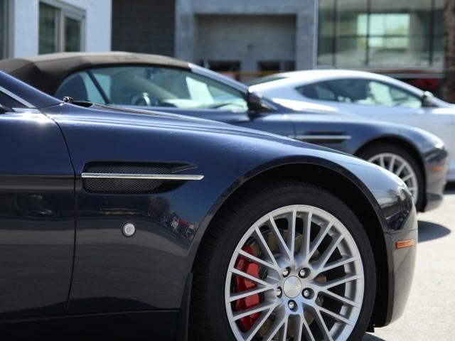 A set of sports cars
